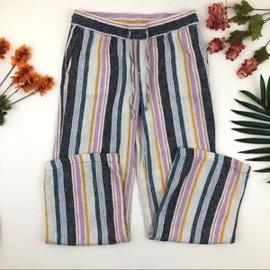 Old navy Striped linen blend drawstring pants